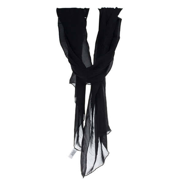 Dior Black Silk Monogram Scarf