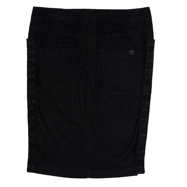McQ by Alexander McQueen Criss Cross Denim Skirt M