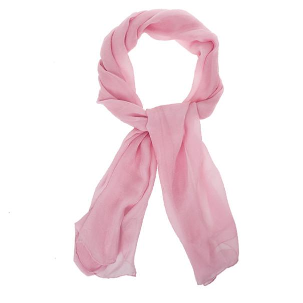 Dior Pink Silk Monogram Scarf