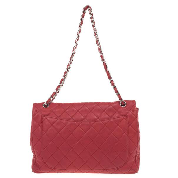 Chanel Red Caviar Classic Jumbo Flap Bag