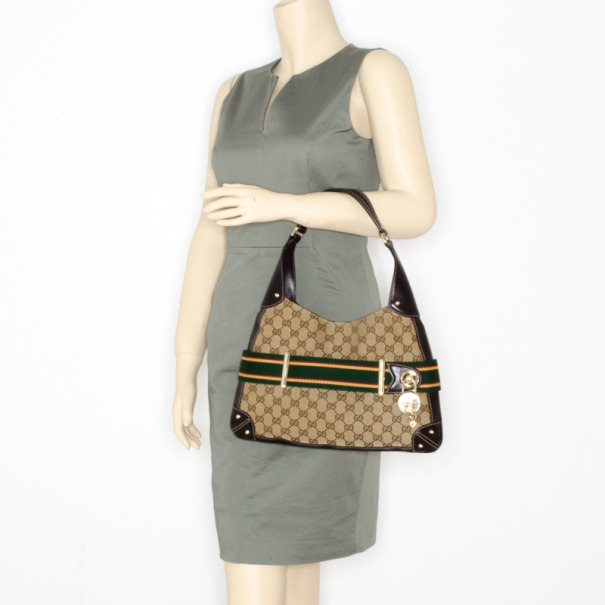 Gucci Canvas Borsa Penelope Hobo