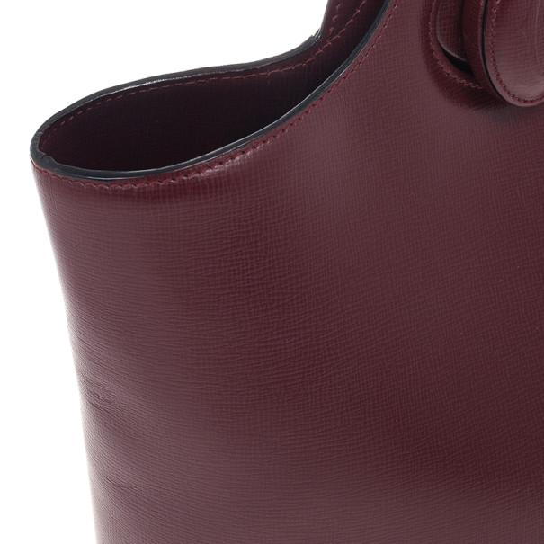 Cartier Maroon Leather Turnlock Sidepack