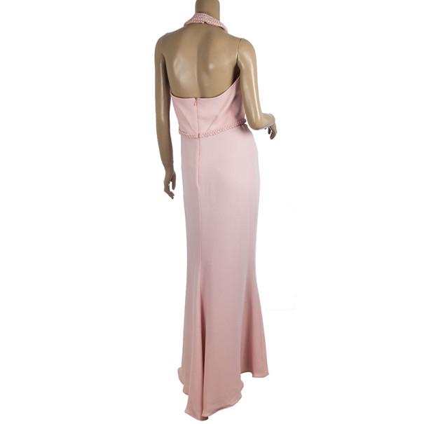 Valentino Silk Halter Neck Maxi Dress M
