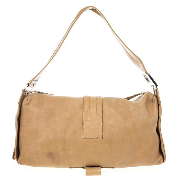 Dior Beige Leather Flight Large East/West Bag