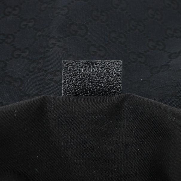 Gucci Abbey Black Monogram D-Ring Hobo