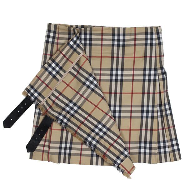 Burberry Classic Check Brit Kilt Mini Skirt XS