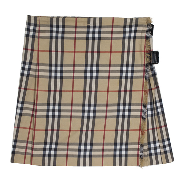 Burberry Classic Check Brit Kilt Mini Skirt XS