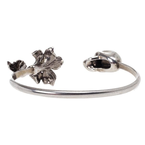 Alexander McQueen Flower Skull Bracelet