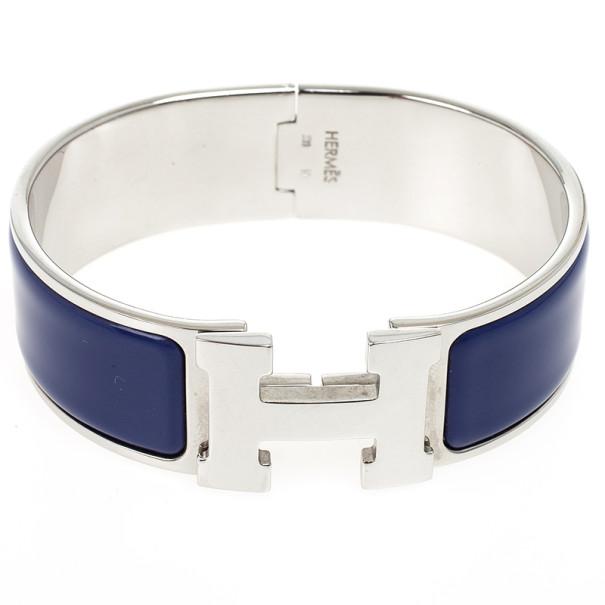 Hermes Clic Clac H Prune Enamel Wide Bracelet GM 18.5 CM - Buy ...