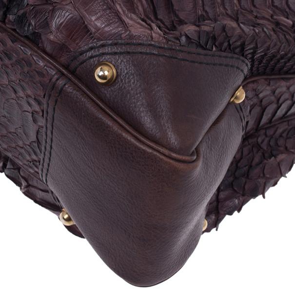 Gucci Large Jockey Python Hobo Bag
