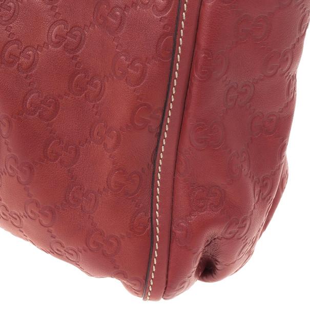 Gucci Guccissima GG Cherry leather Gold D Ring Tote