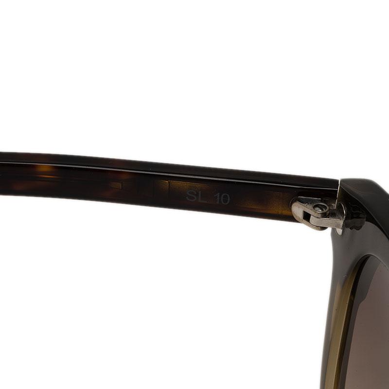 Saint Laurent Paris Two Tone Cat Eye Sunglasses