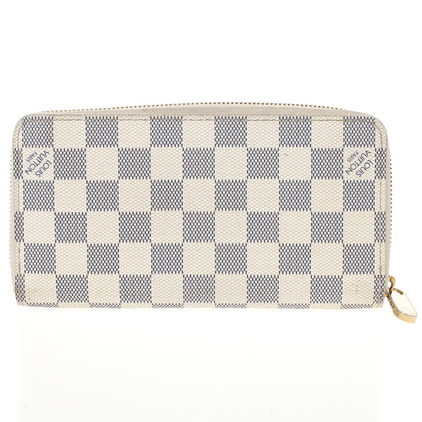 Louis Vuitton Damier Azur Canvas Zippy Wallet