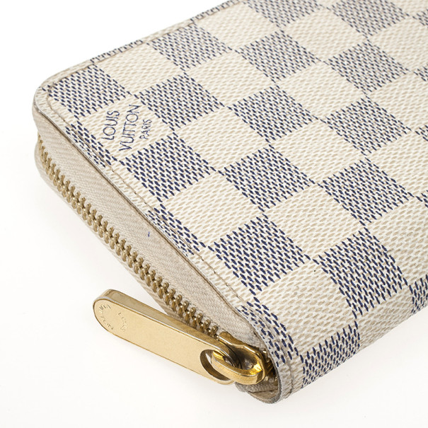 Louis Vuitton Damier Azur Canvas Zippy Wallet