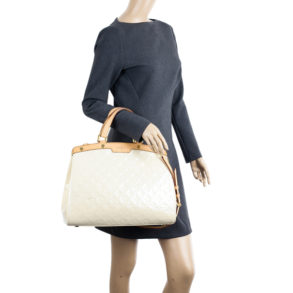 Louis Vuitton Blanc Corail Vernis Brea GM