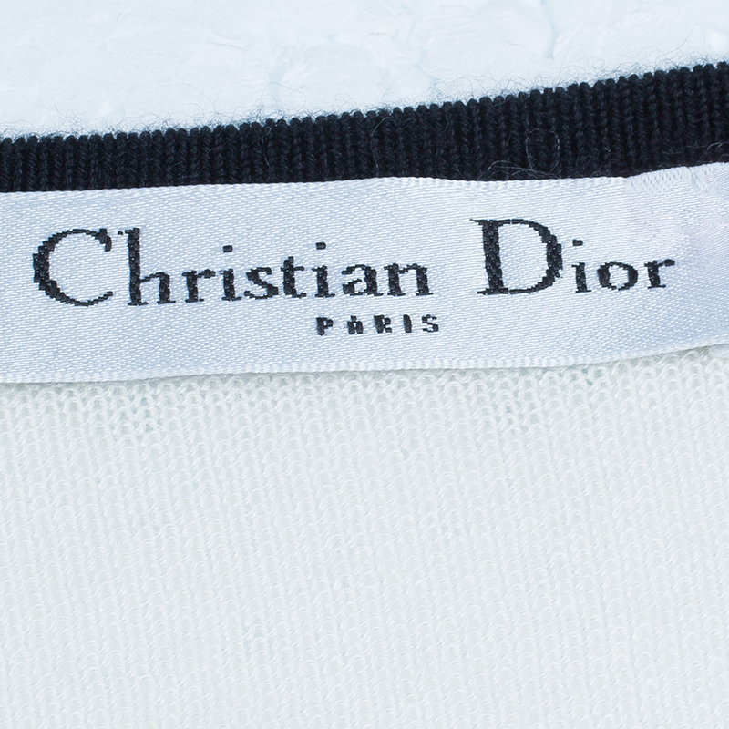 Dior Monochrome Knit Top And Cardigan Set M