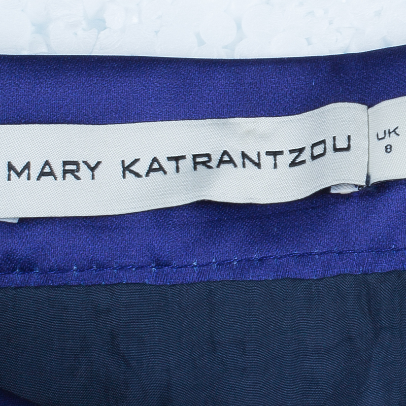 Mary Katrantzou Navy Blue Calculion Skirt S