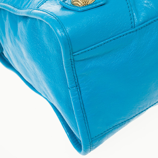 Balenciaga Electric Blue Giant City Bag