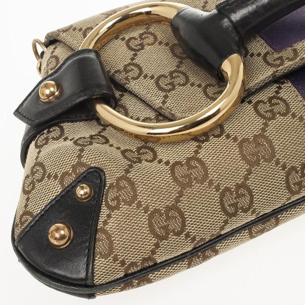 Gucci Tom Ford Monogram Horsebit Chain Clutch Bag