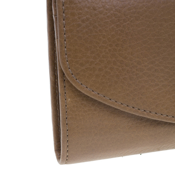 Chloe Nut Leather Lily Continental Wallet