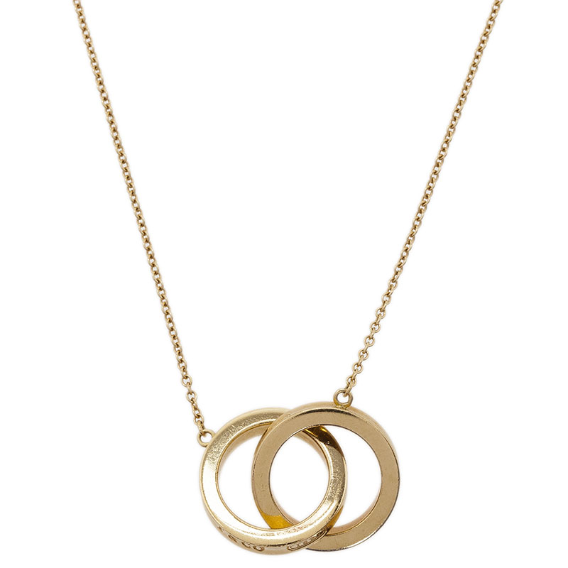 Tiffany & Co. 1837 Interlocking Circles Yellow Gold Chain Necklace