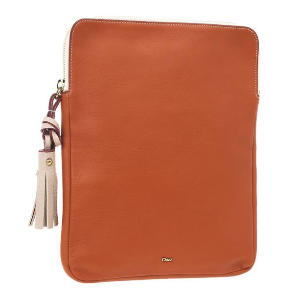 Chloe Orange Leather Eva iPad Cover
