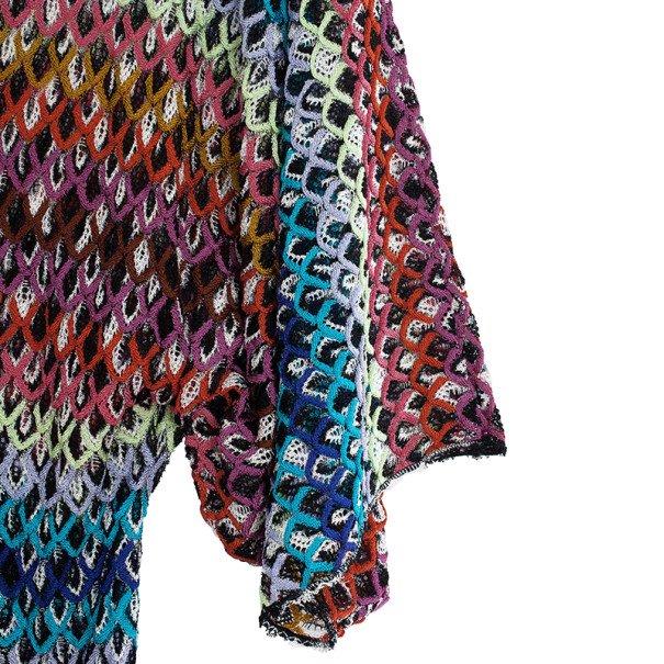 Missoni Multicolor Knit Kaftan Top S