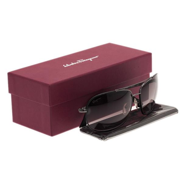 Salvatore Ferragamo Black SF119SL Rectangle Sunglasses