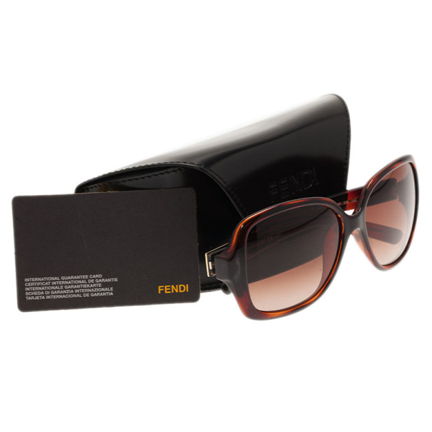 Fendi Brown FS5227 Square Sunglasses