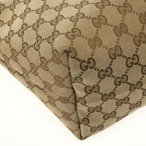 Gucci Monogram Guccioli Medium Oliver Guccioli Embroidery Tote