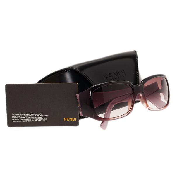 Fendi Purple FS422 Rectangle Sunglasses