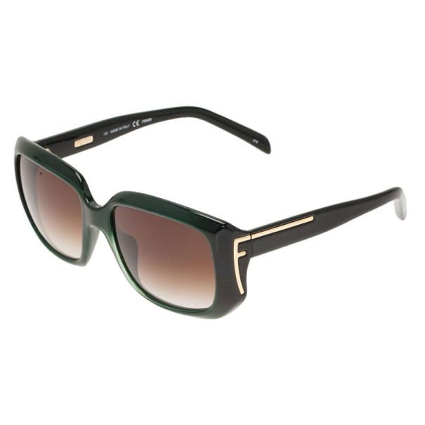 Fendi Green FS5327 Square Sunglasses