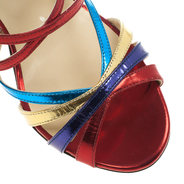 Jimmy Choo Multicolor Strappy Sandals Size 39.5
