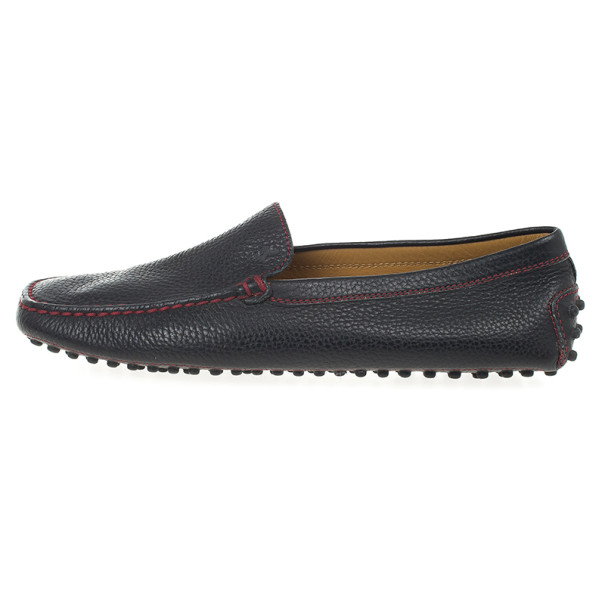 Tod's for Ferrari Black Leather Loafers Size 39.5