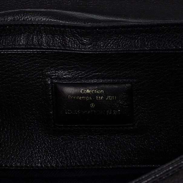 Louis Vuitton Limited Edition Black Suede Avant-Garde Pochette Clutch Bag