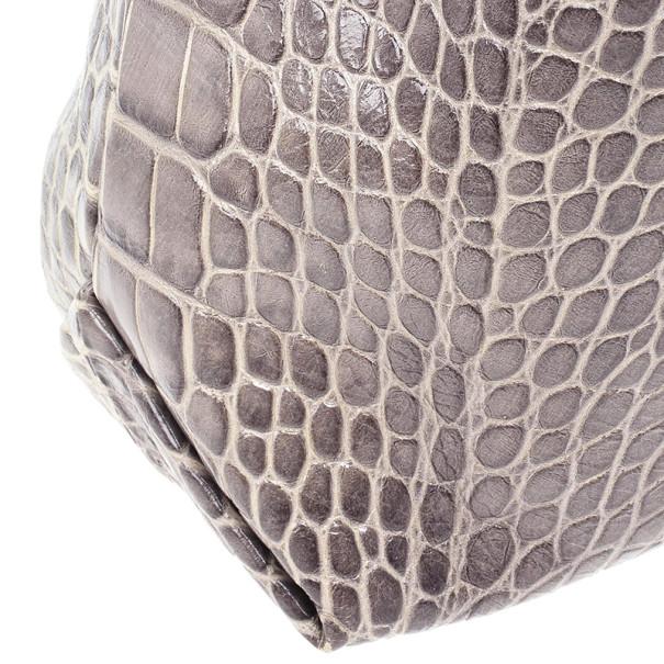 Furla 'Elisabeth' Croc Embossed Hobo Bag