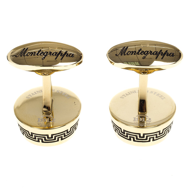 Montegrappa Gold Plated and Mother of Pearls Cufflink