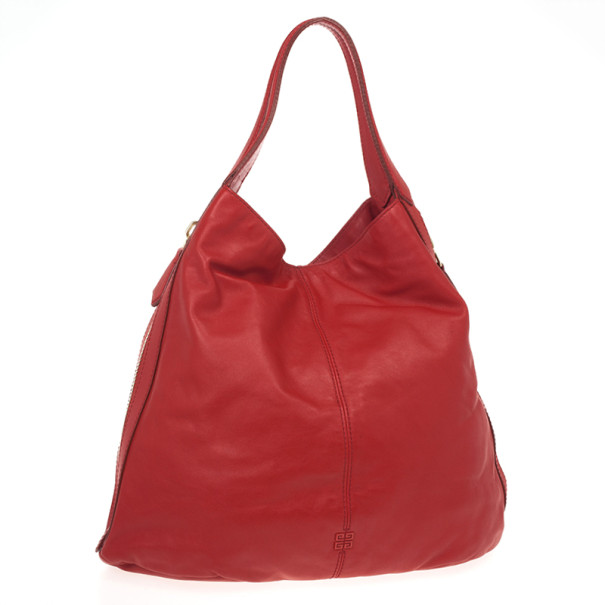 Givenchy Red Lambskin Tinhan Shopper