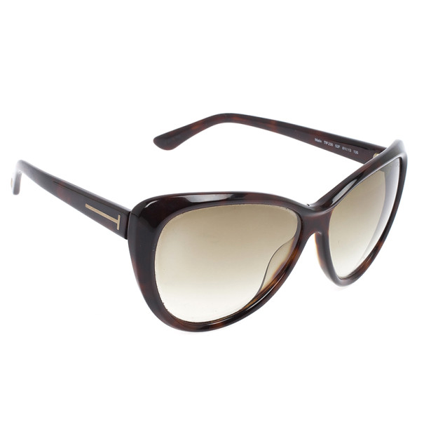Tom Ford Brown Malin Cat Eye Woman Sunglasses