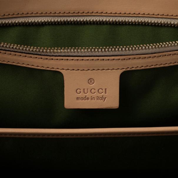 Gucci Flora Print Bamboo Satchel Bag