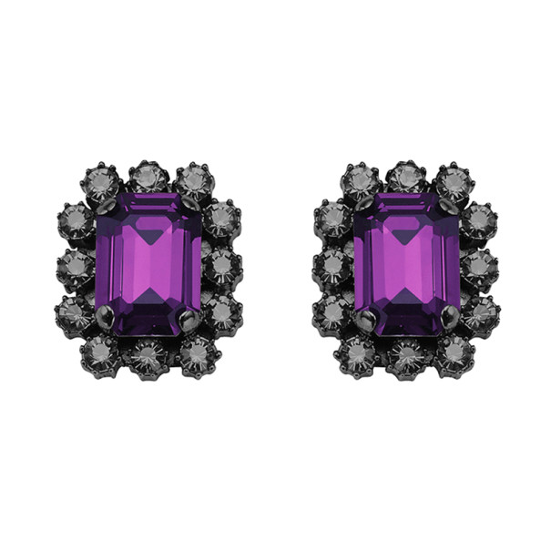 Mawi Crystal Gemstone Clip Earrings