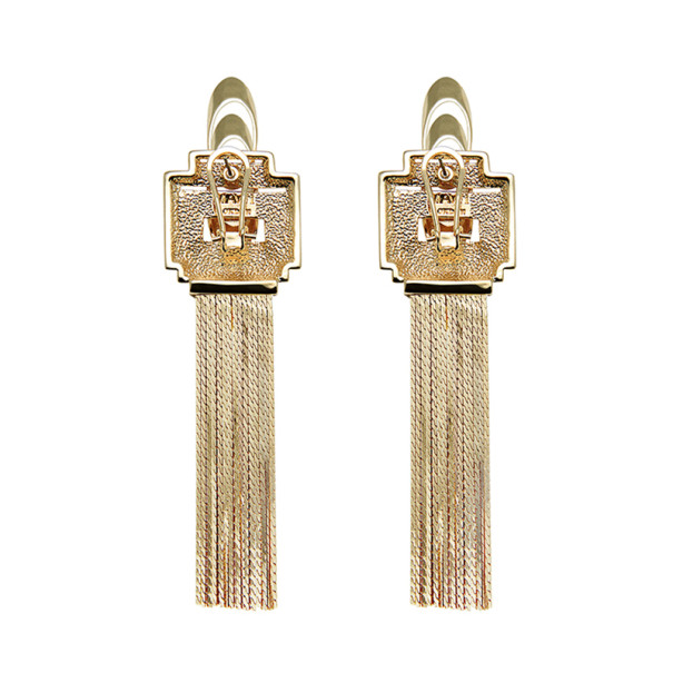 Mawi Rose Gold Flapper Fringe Earrings