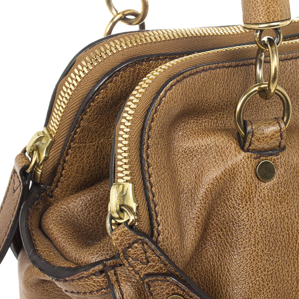Burberry Brown Leather Chain Medium Tote
