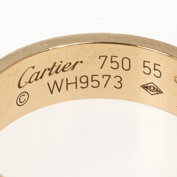 Cartier Love 18 K Pink Gold Ring Size 55