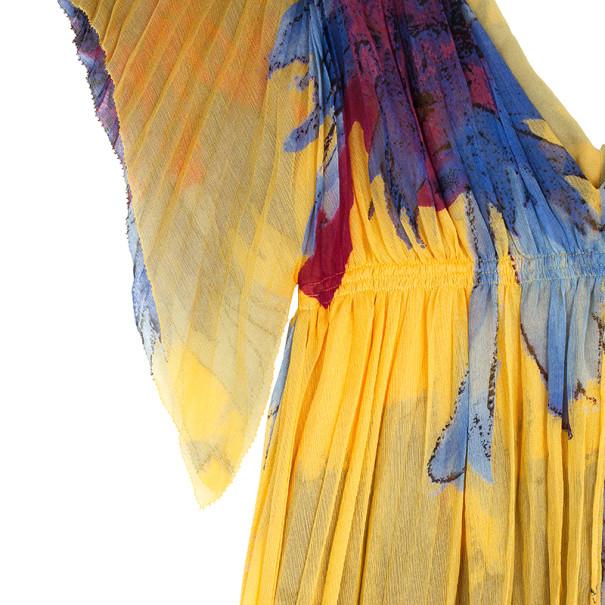Diane Von Furstenberg Jasper Pleated Chiffon Dress M