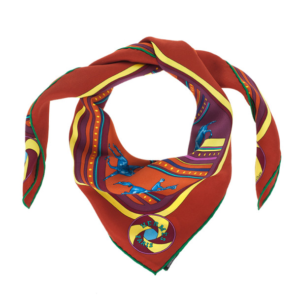 Hermes Silk Sequences Square Scarf