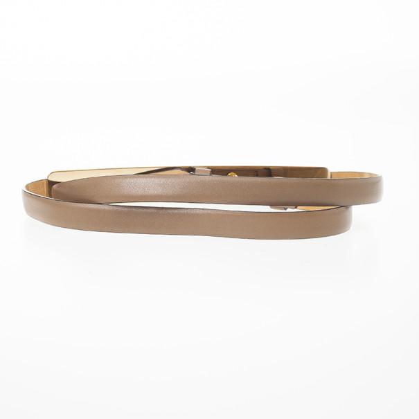 Salvatore Ferragamo Brown Leather Belt 95 CM