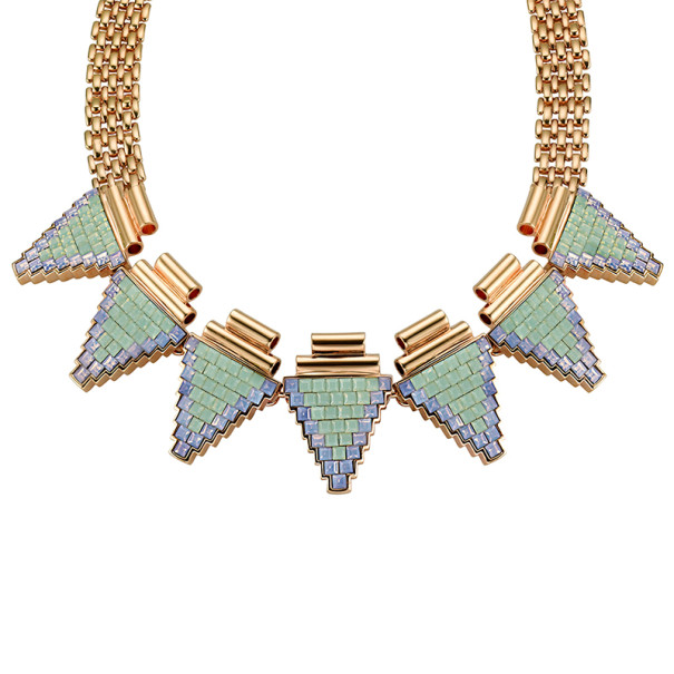 Mawi Deco Triangle Necklace