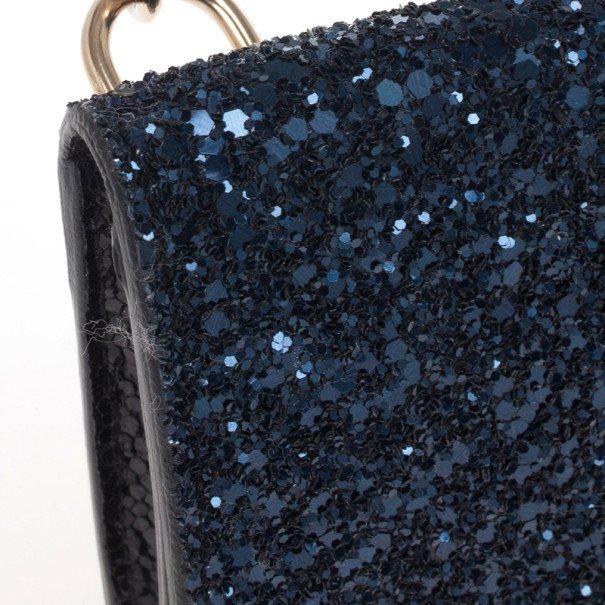 Jimmy Choo Glitter Fabric Ted iPhone Mini Shoulder Bag