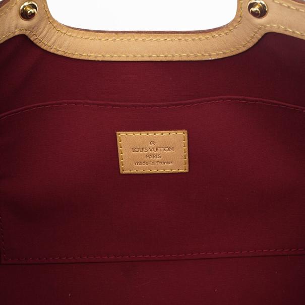Louis Vuitton Red Monogram Vernis Roxbury Drive Bag